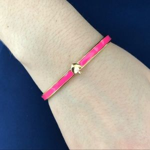 Kate Spade New York pink and gold bangle bracelet